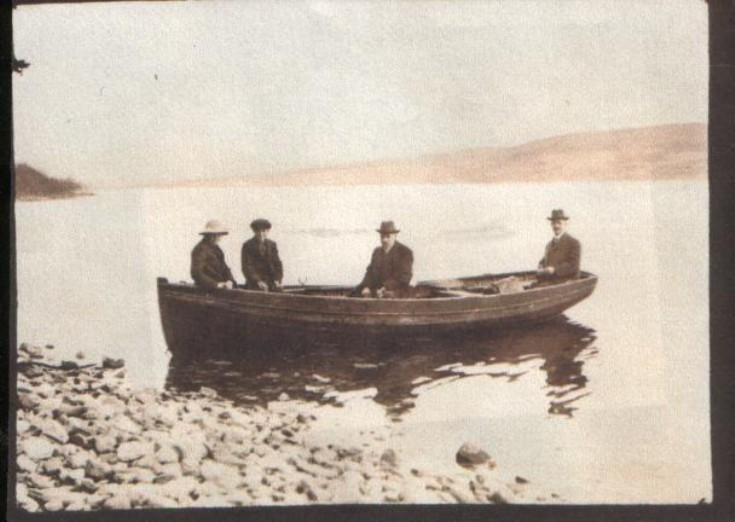 Charles and John Campbell on Loch Ericht