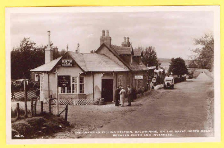 The Grampian Tea Rooms and filing station