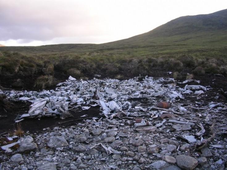 Crash site near Loch Pattack