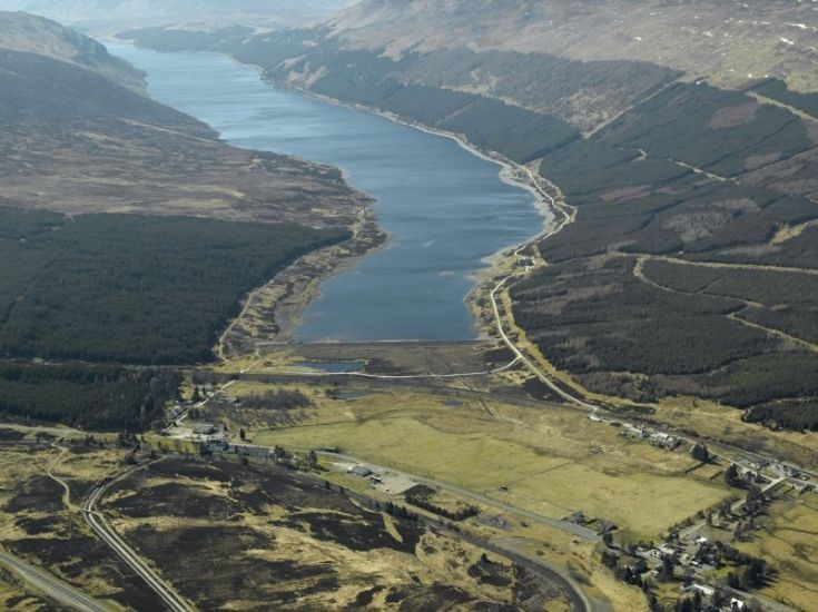 Aerial photo of most of Dalwhinnie