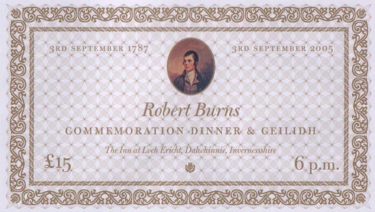 Robert Burns Visit Commemoration