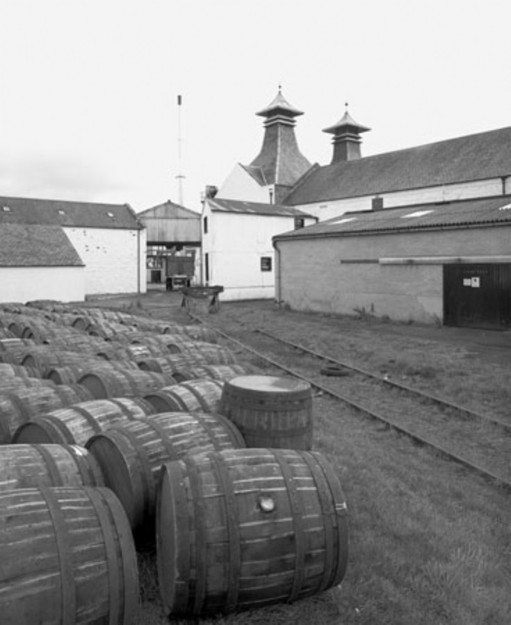 Dalwhinnie distillery railway sidings