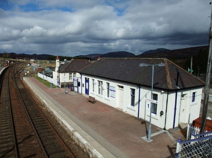Dalwhinnie Station from the pedestrian bridge.