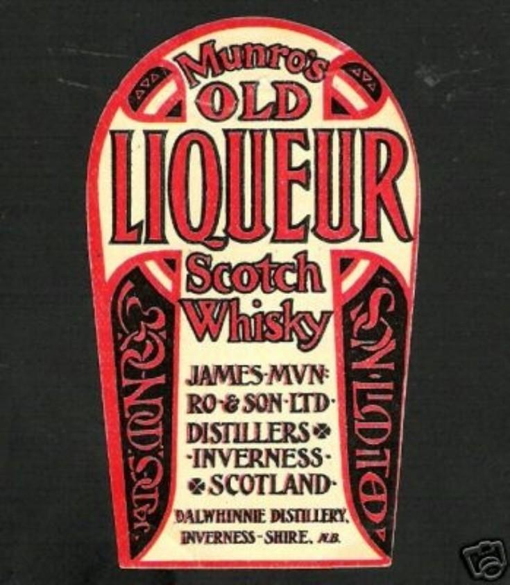 Munro's Scotch Whisky label