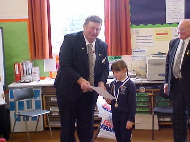 Dalwhinnie school pupil receives certificate