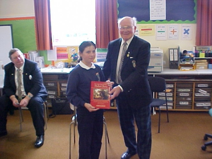 Dalwhinnie school pupil receives Burns book
