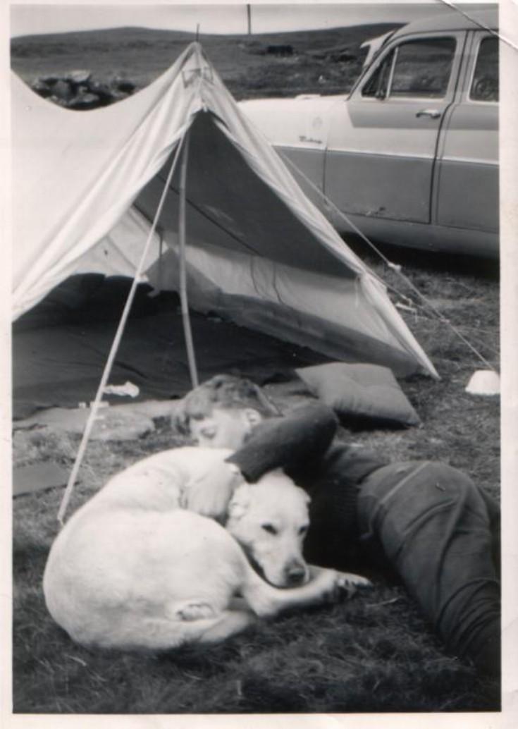 Douglas Abercrombie and dog