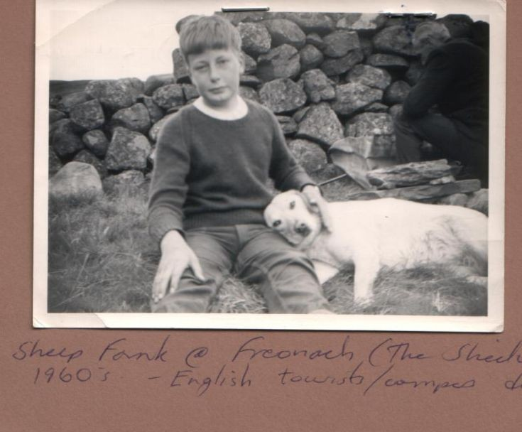 Douglas Abercrombie at Shieling with dog