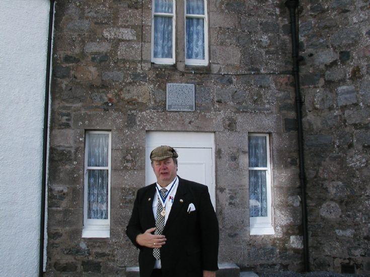 Douglas Abercrombie at the Burns Visit Commemoration Plaque
