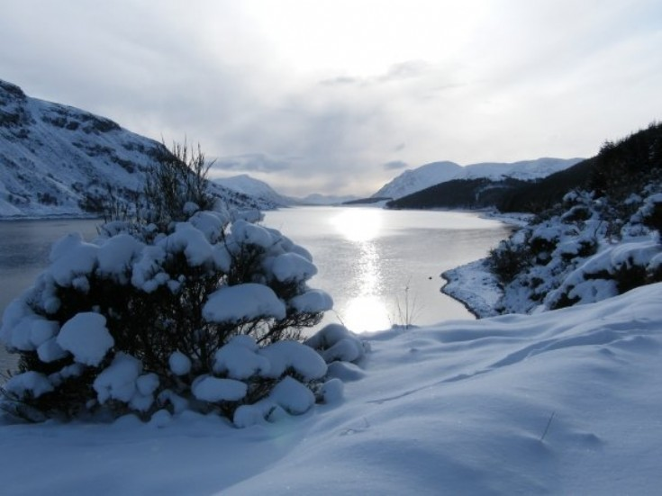 Loch Ericht in winter