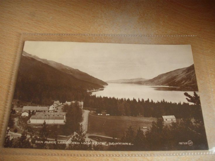 Ben Alder Lodge and Loch Ericht postcard