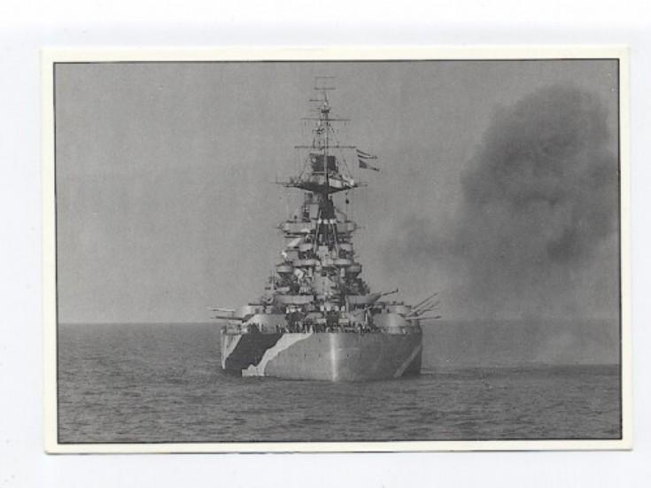 HMS Rodney firing
