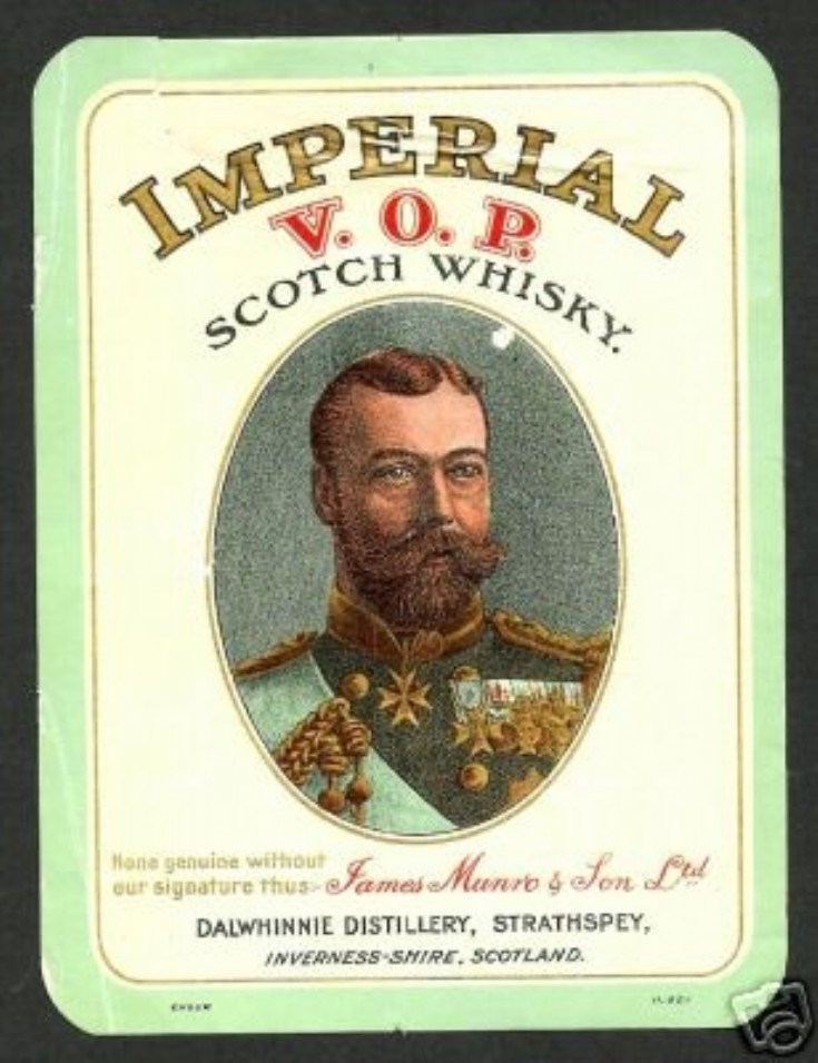 James Munro & Sons Ltd whisky label