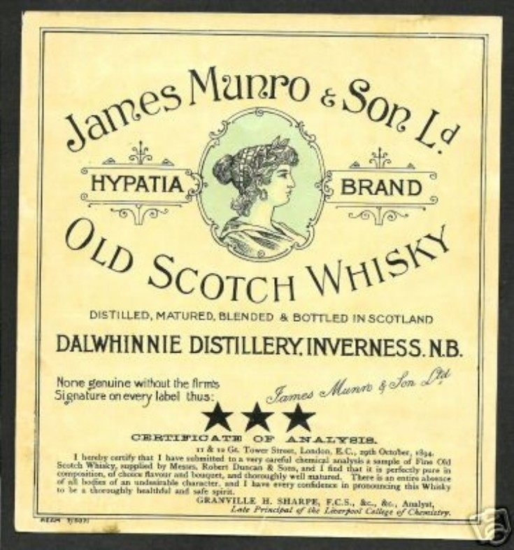 Another James Munro whisky label