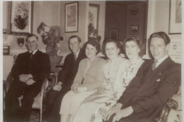 Group of Dalwhinnie folk at a function c1940s?