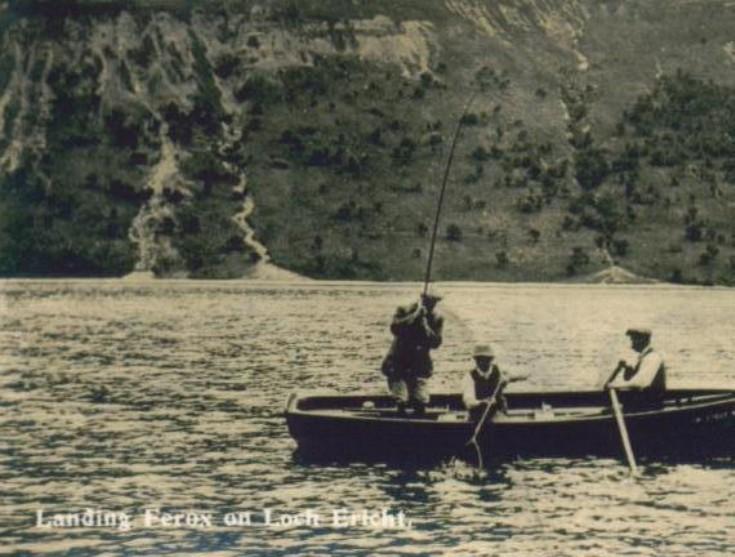 Landing Ferox on Loch Ericht