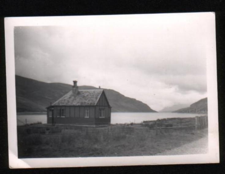 The old Ben Alder Gate Lodge