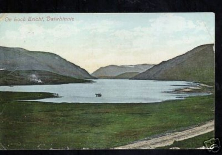 Loch Ericht at its natural level in 1911