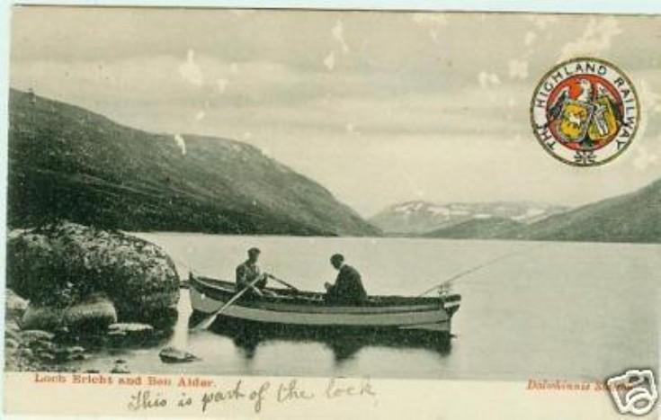 Fishing on Loch Ericht long ago