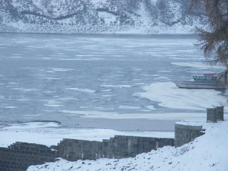 Loch Ericht frozen