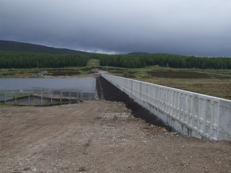 Loch Ericht and the newly refurbished dam