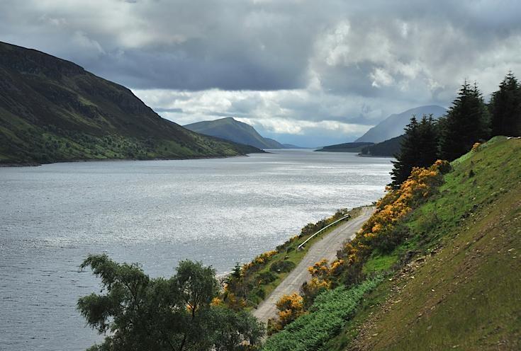 Loch Ericht towards Corrievarkie