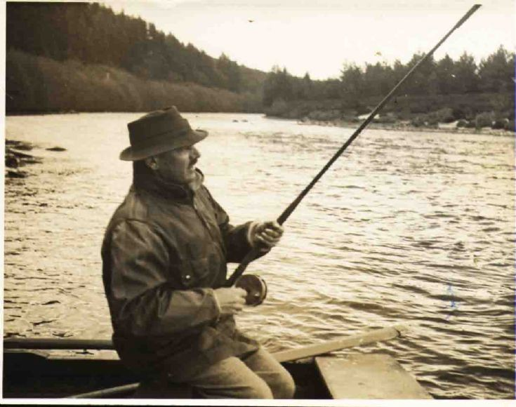 Major General Francis De Guingand fishing River Spey May 1944