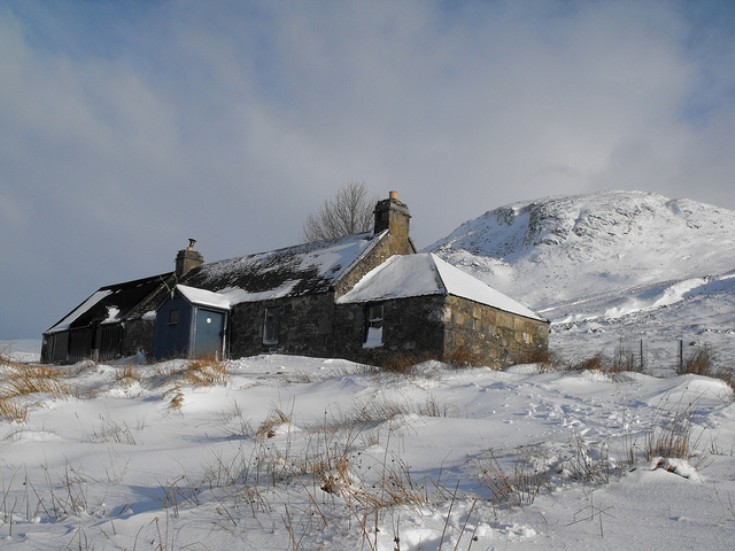 McCook's Cottage in winter