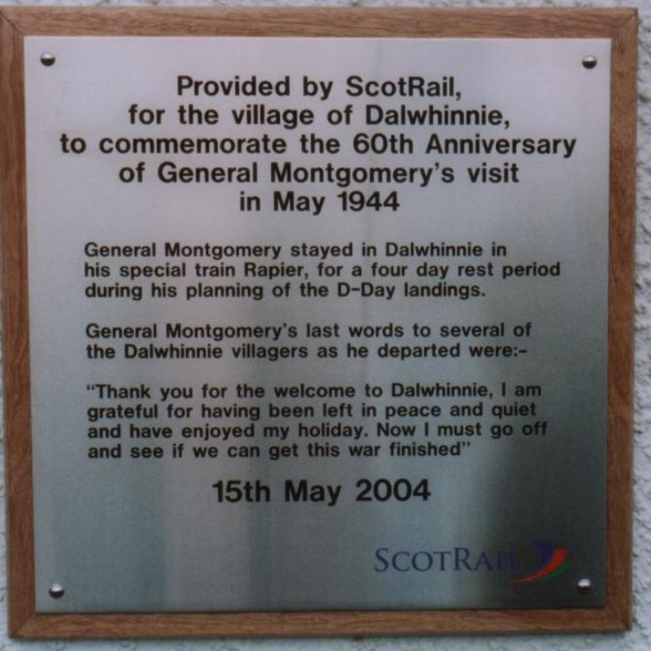 The Montgomery Plaque at the Station