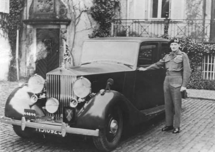 Monty and his staff car