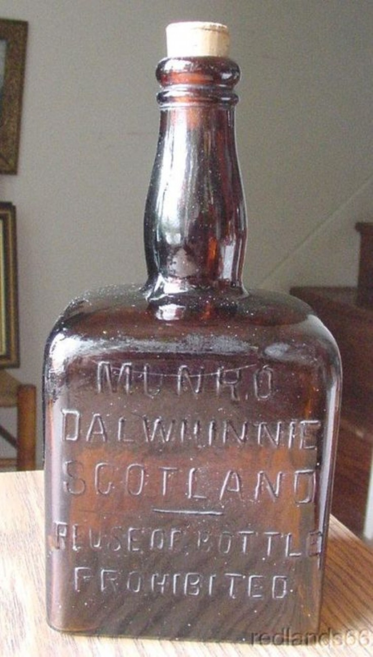 Munro's Dalwhinnie bottle