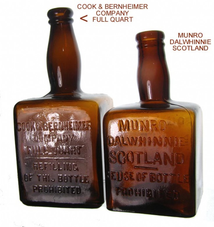 Two old Dalwhinnie bottles