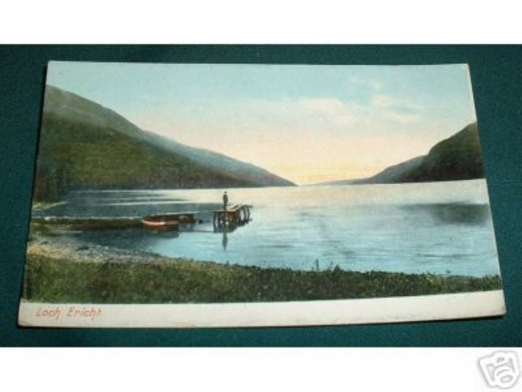 Old postcard of Loch Ericht