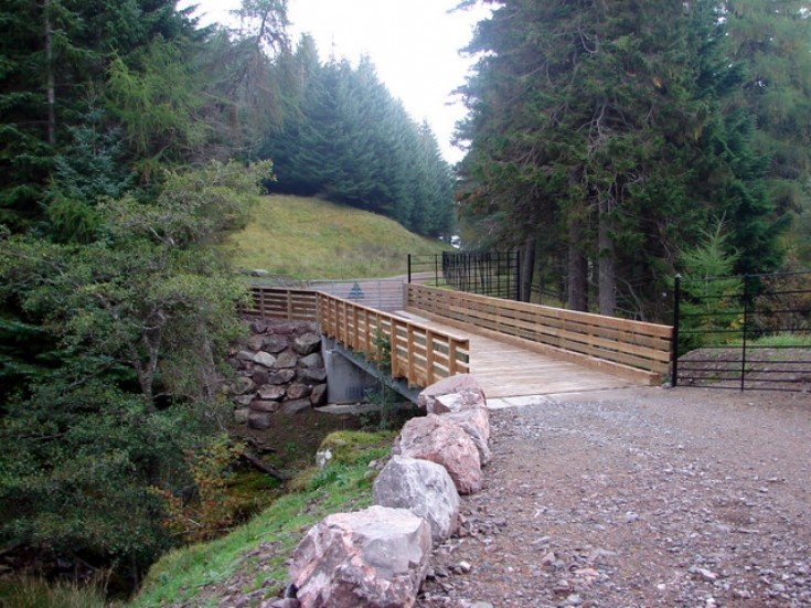 New bridge at Ben Alder Lodge