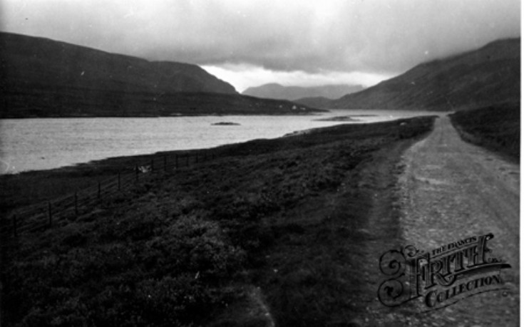 Old photo of Loch Ericht