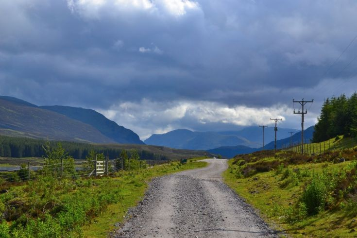The road to Loch Ericht