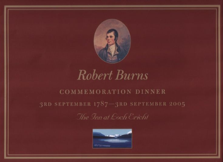 Place mat for Burns commemoration