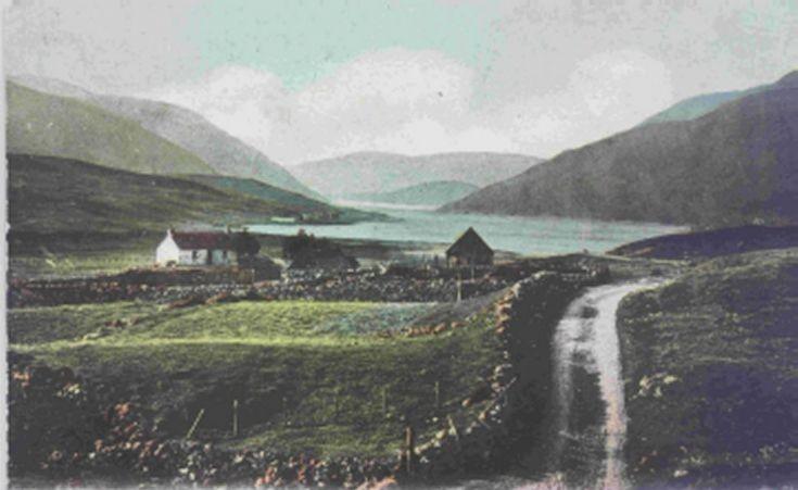 Very old postcard of Loch Ericht