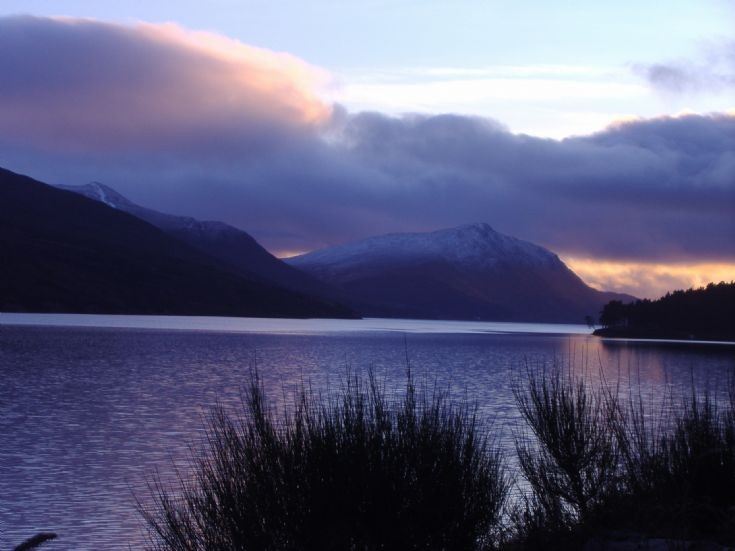 Loch Ericht at sunset