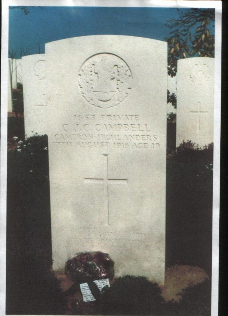 Grave of Private Charles Campbell