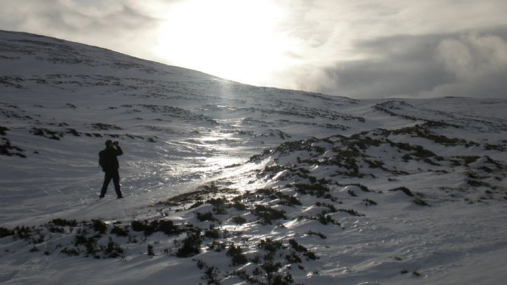 Exploring the mountains around Dalwhinnie