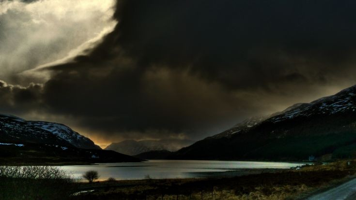 Loch Ericht under stormy skies