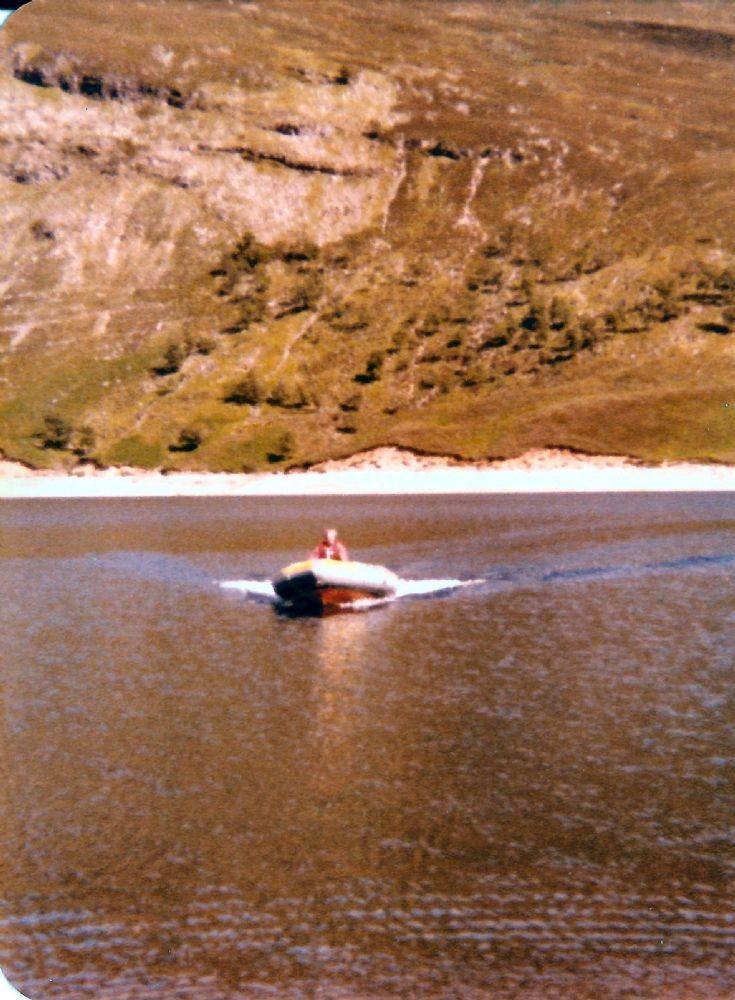 Boat on Loch Ericht