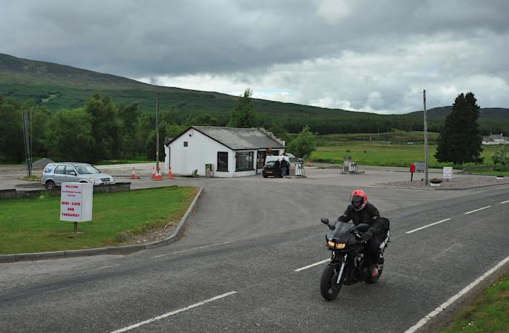 Dalwhinnie garage, post office, takeaway, shop