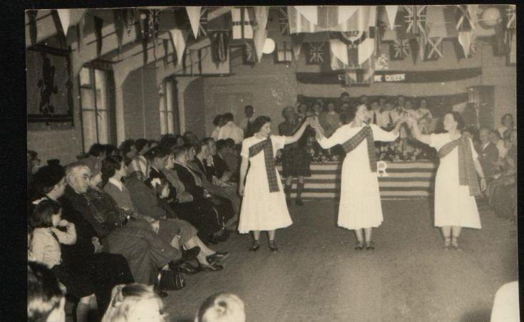 Coronation dance in village hall
